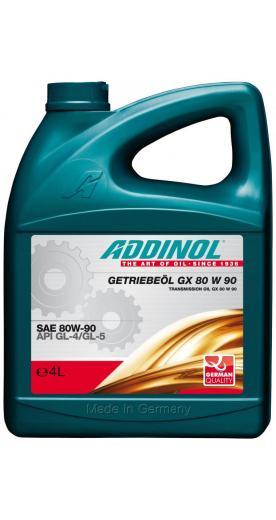 Трансмиссионное масло ADDINOL Getriebeöl GX 80W 90 80W-90 4л